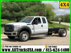 2013 Ford F550 4X4 6.7 POWERSTROKE DIESEL CAB & CHASSIS TRUCK Used Extended Cab