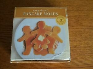 Williams-Sonoma Set of 3 Non-Stick Gingerbread Pancake Molds NEW, Sealed NOS