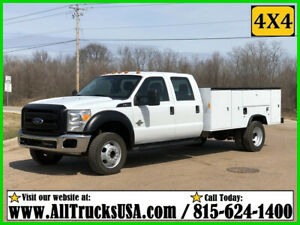 2013 FORD F550 4X4 CREW CAB 6.7 DIESEL 11' BED SERVICE TRUCK Used Crew Cab 103K
