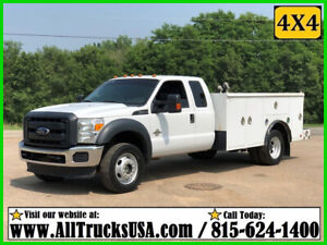 2015 FORD F550 4X4 EXTENDED CAB 6.7L DIESEL 11' UTILITY BED 4WD SERVICE TRUCK