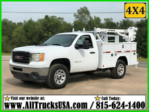 2011 GMC 3500HD 4X4 6.0 GAS 3200 lb LIFTMOORE CRANE MECHANICS TRUCK Used 143K