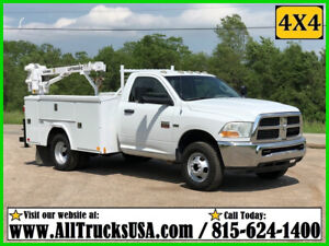 2012 DODGE RAM 3500HD 4X4 5.7 HEMI GAS 3200 lb CRANE MECHANICS SERVICE TRUCK