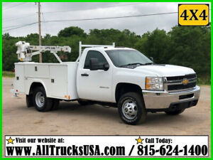 2013 CHEVY 3500HD 4X4 6.0 GAS 3200 lb LIFTMOORE CRANE MECHANICS SERVICE TRUCK