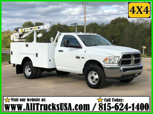 2012 DODGE RAM 3500HD 4X4 5.7 HEMI GAS 3200 lb STAHL CRANE MECHANICS TRUCK Used