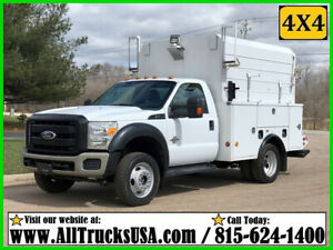 2011 FORD F550 4X4 6.7 DIESEL 9' ENCLOSED SERVICE WALK-IN UTILITY TRUCK w LIFT