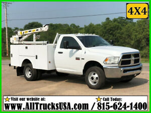 2012 DODGE RAM 3500HD 4X4 5.7 HEMI GAS 3200 lb STAHL CRANE MECHANICS TRUCK 120K