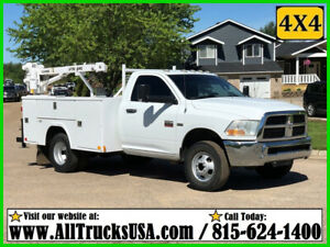 2012 DODGE RAM 3500HD 4X4 5.7 HEMI GAS 3200 lb LIFTMOORE CRANE MECHANICS TRUCK