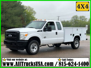 2011 FORD F350 4X4  6.7 POWERSTROKE DIESEL 9' BED SERVICE TRUCK EXT CAB 158K MI