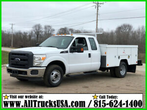 2012 FORD F350  6.2 V8 GAS  9' ETI BED SERVICE UTILITY TRUCK EXT CAB 168k MI