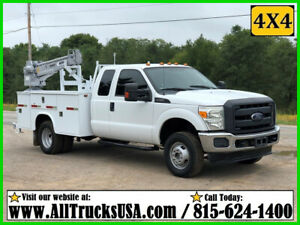 2012 FORD F350 4X4 6.2 GAS 3200 lb VENTURO CRANE MECHANICS TRUCK Ext Cab Used