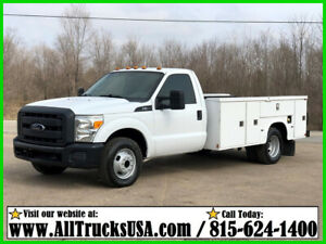 2013 FORD F350 6.2 GAS 11' KNAPHEIDE BED SERVICE UTILITY TRUCK w LIFTGATE 122k