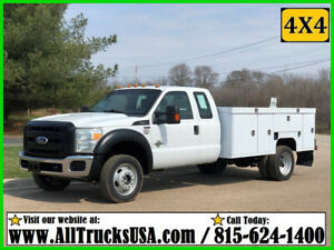 2011 FORD F550 4X4 6.7 DIESEL EXTENDED CAB 11' SCELZI UTILITY BODY SERVICE TRUCK