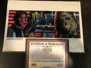 Star Wars Scoundrels & Bounty Hunters Randy Martinez Fine Art Giclee Set 135 AP $239.00