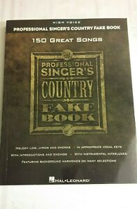 Fake Bks.: The Professional Singer#x27;s Country Fake Book : High Voice Trade... $25.95