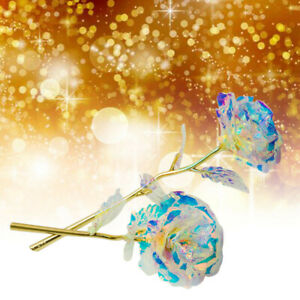24K Gold Foil Rose Flower LED Luminous Galaxy Father's Day Valentine's Day Home