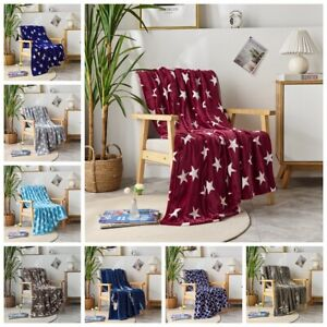 Super Soft Fleece Throw Blanket for Couch Sofa Bed Chair Lightweight Microfiber
