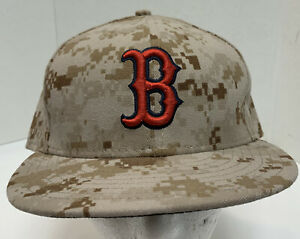 New Era Boston Red Sox 59Fifty Camo Hat 7 58 Fitted MLB Digital Camouflage MLB