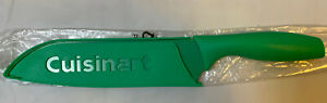 CUISINART 7 Inch Santoku Chefs Knife Stainless Steel Green Blade Guard Advantage