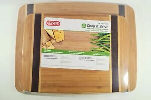 Dexas Chop & Serve Bamboo Cutting and Serving Boards. Eco-friendly, Food-Safe