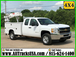 2012 CHEVY 2500HD 4X4 6.0 GAS 3200lb RKI CRANE MECHANICS SERVICE TRUCK EXT CAB