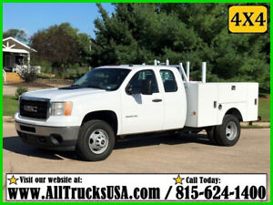 2013 GMC 3500HD 4X4 EXTENDED CAB 6.0 GAS 8' STAHL BED SERVICE TRUCK Used