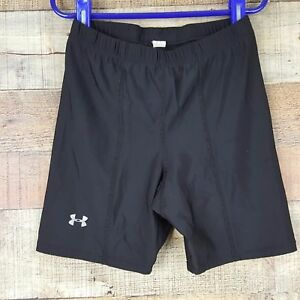 2 Pair Under Armour Black Compression Fitted Shorts Size XS JJ5 $14.49