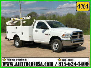 2012 DODGE RAM 3500HD 4X4 5.7 HEMI GAS 3200 lb STAHL CRANE MECHANICS TRUCK 99K