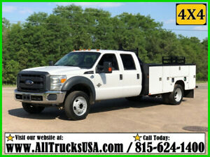 2012 Ford F550 4X4 6.7 DIESEL 11' KNAPHEIDE BED SERVICE TRUCK Used Crew Cab