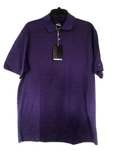 NWT Mens Purple Nike Dri Fit Golf Shirt Tiger Woods Collection Mens Size M $40.00