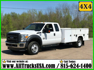 2015 Ford F550 4X4 6.7 DIESEL 11' KNAPHEIDE BED SERVICE TRUCK Used Extended Cab
