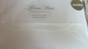 SFERRA ALLEGRO Sheet Set Queen 600TC 100%  Cotton SATEEN Italy $1080 White