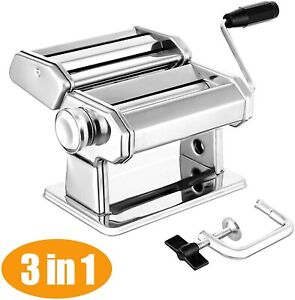 STAINLESS STEEL FRECH PASTA MAKER ROLLER MACHINE FOR SPAGHETTI NADDLE FETTUCCIN