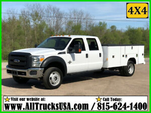 2016 Ford F550 4X4 6.7L DIESEL 11' READING BED SERVICE TRUCK Used Crew Cab