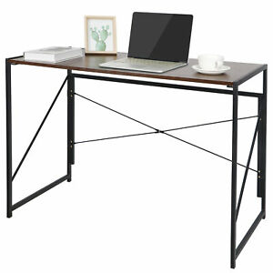 Office Computer Desk Writing Modern Simple Study Industrial Style Folding Home $58.99