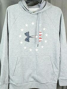 UNDER ARMOUR Men's Freedom Logo Hoodie. Grey SMALL NEW $24.99