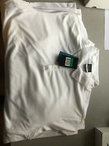 Nike Golf Polo Shirt Men's SIZE LARGE Short Sleeve White Dri Fit Johnnie Walker $18.00