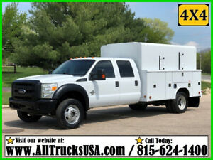 2015 Ford F550 4X4 CREW CAB 6.7  DIESEL 11' ENCLOSED SERVICE BODY UTILITY TRUCK