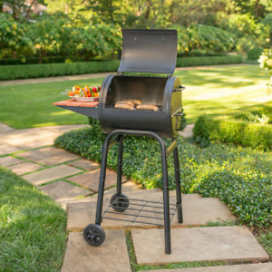 Charcoal Grill Patio Pro Heavy Gauge Steel Cast Iron Cooking Grates Outdoor Food