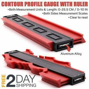 10 inch Contour Gauge Saker Duplicator Profile Copy Tool Shape Measuring Red $12.95