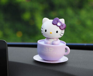 purple Hello Kitty Moving Head Solar Car Decoration US Seller