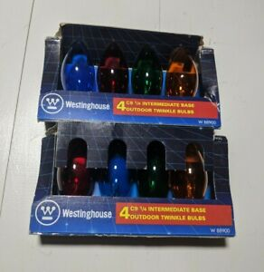 VTG Westinghouse outdoor Bulbs Christmas Lights 2 Boxes Multi Color C 9 1 4