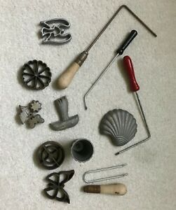 Vintage Kitchen Hand Tools Utensils Gadgets Collectibles Angel Shell Butters