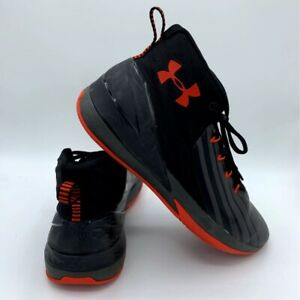 Under Armour Mens Lockdown 3 Basketball Shoes Black Red 3020622 002 Sneakers 8 $29.99