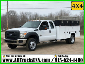 2012 FORD F550 4X4 6.7 DIESEL 11' KNAPHEIDE BED SERVICE TRUCK Used Extended Cab