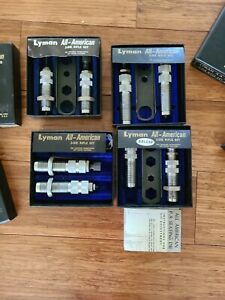 Lyman lot of 4 A A Dies 300 Win Mag, 32 Win Spl, 222 Rem Deluxe, 30 30 Win