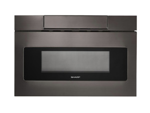 Sharp 24 in. 1.2 cu. ft. Built-In Microwave Drawer with Concealed Controls in Bl
