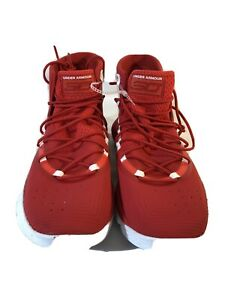Under Armour SC 3Zero II Basketball Shoes 3020613 600 Red White Size 13 $49.49