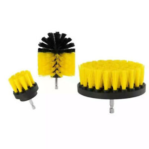 3PCS Drill Brush Power Scrubber Drill Attachments Carpet Tile Grout Cleaning A+