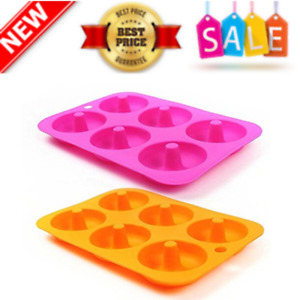 Silicone Donut Pan 2pcs Non Stick Mold Silicone Donut Mold For 6Full Size Donuts