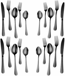 Western 20Piece Rainbow Flatware Set18/10 Stainless Steel Silverware Cutlery Set